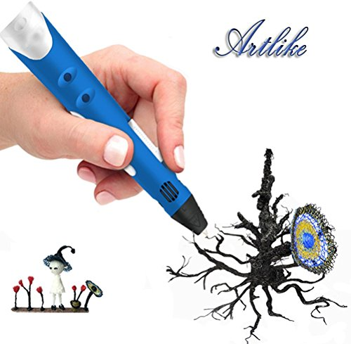 Artlike 2016 Newest 3D Stereoscopic Printing Pen for 3D Doodling and Drawing with Power Adapter ABS for Children(Blue) (3d Printing Supplies compare prices)
