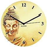 Xclusve Designer Royal Buddha Wooden Clock (30.5 X 30.5 X 30.5 Cms)