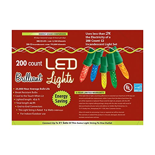Morris Costumes Holiday Lights 200L C3 Multi