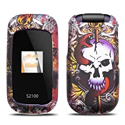 Lion Skull Design Protector Case Snap-On Cover for Kyocera S2100