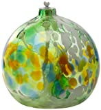 Kitras 6-Inch Oil Lamp Fairy Orb Art Glass, Green