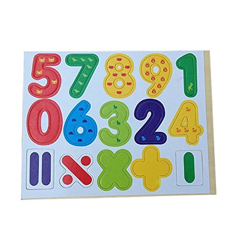 Lowpricenice(Tm) Funny Cute 15Pcs Wooden Magnetic Numbers Digital Board Math Baby Learning Educational Toy front-1063840