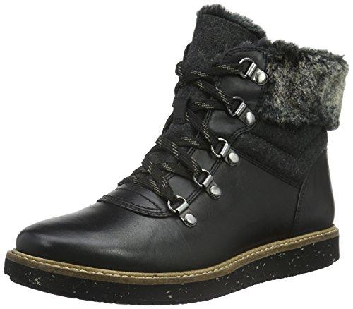 Clarks Glick Clarmont, Stivaletti Corti Donna, Nero (Black Leather), 38 EU