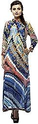 Calista Women's Chiffon Regular Fit Kurta(Calkur02_40, Multi Colour, 40)