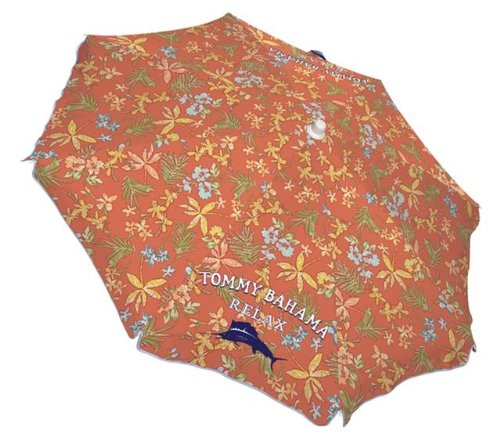 Tommy Bahama Relax Sunprotecting Umbrella (6-Feet, Aged Coral Print)