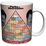 Parks and Recreation Ron Swanson Pyramid Workplace Comedy TV Television Show Ceramic Gift Coffee (Tea, Cocoa) 11 Oz. Mug