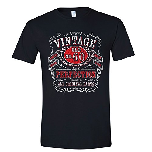 Whiskey 60th Birthday Husband Mens Gifts Black Large