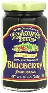 Kozlowski Farms Fruit Spread, Blueberry, 10-Ounce (Pack of 6)