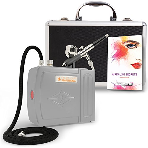 The Complete Airbrush Makeup, Cosmetic and Tattoo Professional Spray Gun Mini Compressor Kit for Multi Purpose Air Brushing: Make up, Body Paint, Temporary Tattoos, Nail Art Paints Machine and more (Airbrushing Machine compare prices)