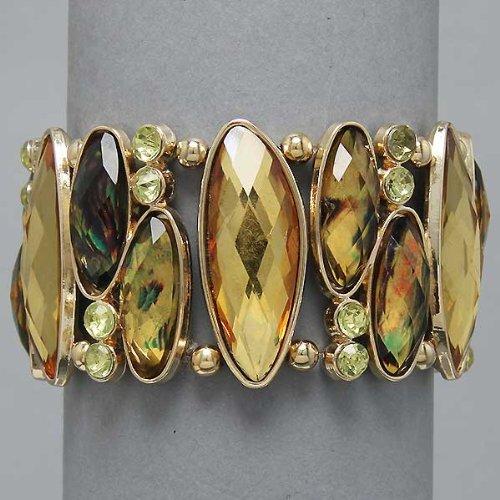 Stretch, Gold Chrysolite L.col Topaz Bracelet, Stones