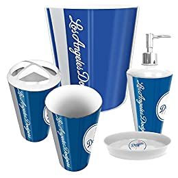 Los Angeles Dodgers MLB Complete Bathroom Accessories 5pc Set
