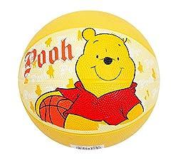 Mesuca Disney Pooh No.3 Rubber Basketball, Yellow