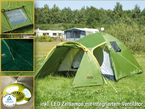 adac 3 personen camping zelt 3000mm wassers ule incl. Black Bedroom Furniture Sets. Home Design Ideas