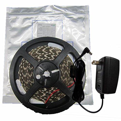 Zled 16.4Ft Smd5050 150Led Dc12V Warm White Color Blister Kit Package Ip65 Waterproof Flexible Led Strip Light