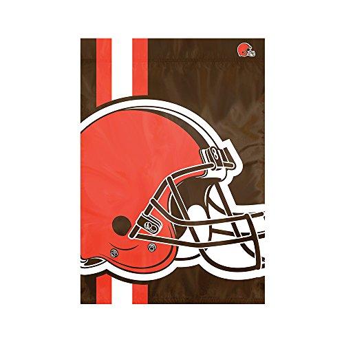 Party Animal Cleveland Browns NFL Dye Sublimated Bold Logo Garden Flag