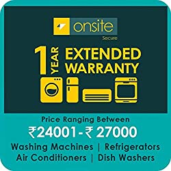Onsite 1-year extended warranty for Large Appliance (Rs. 24001 to < 27000)