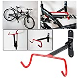 Safekom New Heavy Duty Garage Foldable Wall Mounted Bikes Bicycle MTB Indoor Bike Storage Racks & Stand Hook Holder Rear Rack & Fitting Screws---Free Delivery