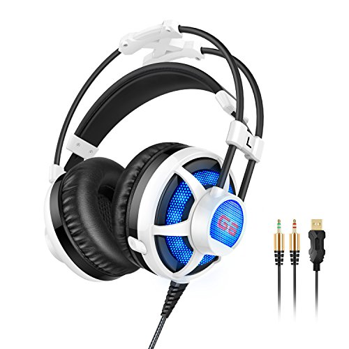 PICUN-G6-Gaming-Headset-with-Adjustable-and-Retractable-MicrophoneUSB-and-35mm-Stereo-Surround-Headphones-with-LED-LightingComfortable-Headset-for-Laptop-PC-Computer