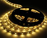 Tanbaby 5M 16.4ft Led Strip Light 300 Units 3528 LEDS Flexibled Rope Light Non-waterproof Indoor Led Decoration Lights warm white