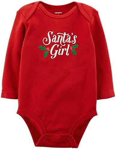 Carter's Baby Girls' Slogan Bodysuit (Baby) - Santas Girl - 6 Months