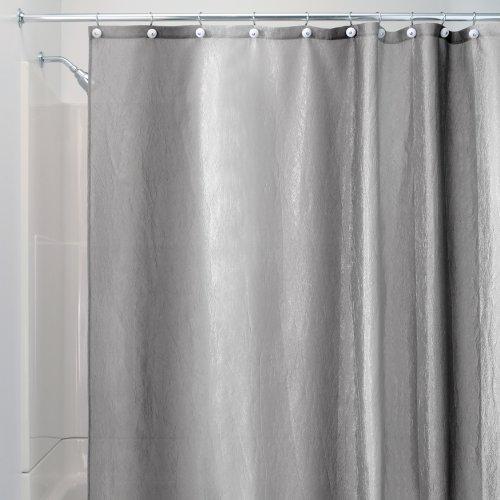 InterDesign Ombre Shower Curtain, Granite, 72-Inch by 72-Inch