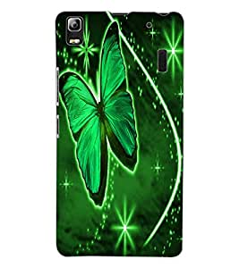 ColourCraft Lovely Butterfly Design Back Case Cover for LENOVO A7000 TURBO