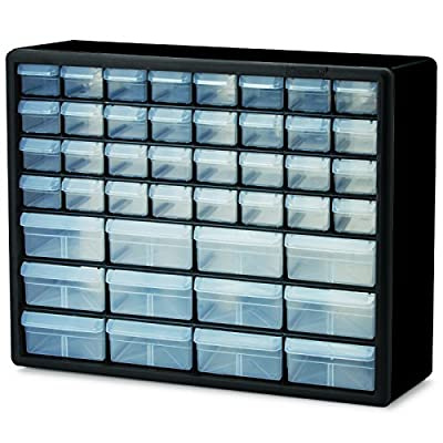Akro-Mils 10744 44 Drawer Plastic Parts Storage Hardware and Craft Cabinet, 20-Inch by 16-Inch by 6-1/2-Inch