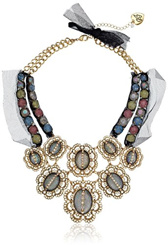 "Betsey Johnson ""Prom Party"" Mesh Wrapped Crystal Necklace, 19"" front-935230"