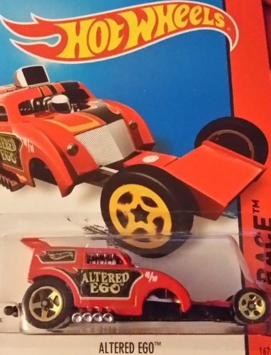 Hot Wheels 2014 Hw Race Track Aces Red Altered Ego 167/250 Code Car - 1