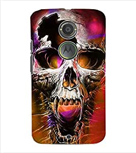 ColourCraft Skull Back Case Cover for MOTOROLA MOTO X2