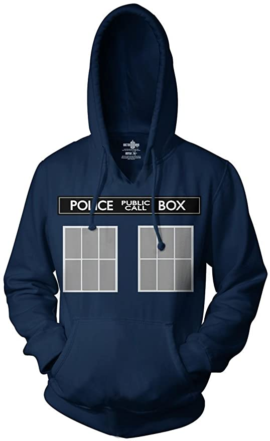 Doctor Who Call Box Pullover Hoodie
