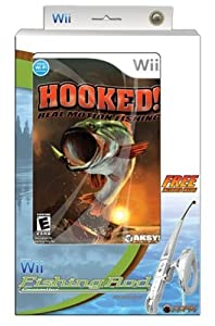 Hooked real motion fishing with fishing controller for Wii fishing rod