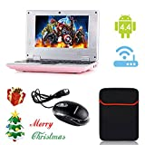 "eForprice 7"" Mini Notebook Laptop Baby Electronic Learning Toys Computer Netbook Android 4.2 System 4GB Storage VIA 8880 Cortex-A9 1.2ghz Wifi Windows Hd Solid Black Mini Laptop 7 Inch Netbook Notebook Computer Tablet Pc, Installed Wifi and Camera, Watch News, Youtube Facebook Twitter, Supports Netflix, Word/excel/power Point, 2 USB Ports, Sd Card Slot, Hdmi Port to Connect with Tv - Pink"
