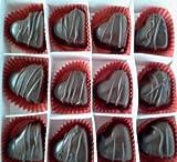 Fancy Dark Chocolate Marzipan Hearts - 24 pcs