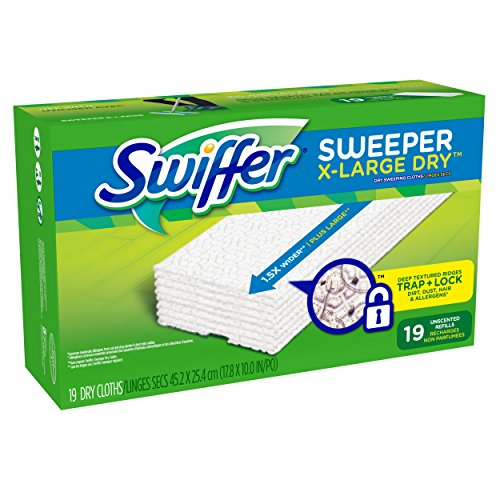 Swiffer Sweeper XL Dry Sweeping Pad Refills for Floor mop Unscented 19 Count (Swiffer Sweeper Dry compare prices)