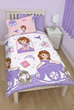 Comprar Disney Sofia The First Academy - Juego de ropa de cama edredón individual rotatorio