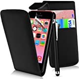 Supergets® Flip Pocket PU Leather Case Cover For Apple Iphone 5C / 5 C+ Screen Protector , Touch Screen Stylus and Polishing Cloth