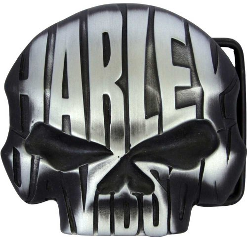 Harley-Davidson Men's Willie G. Night Skull Belt Buckle Chrome Finish HDMBU10336