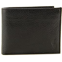 Polo Ralph Lauren Mens Tumbled Leather Wallet One Size Black