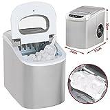 Yahee Eiswürfelbereiter Eis Würfel Maschine ICE Eiswürfelmaschine ice crusher automatischersilber