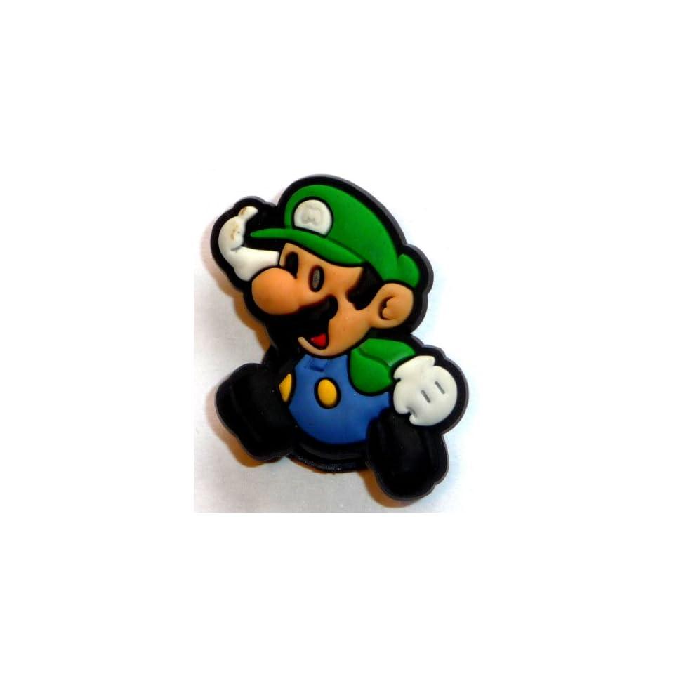 d1dfb6ce1 Luigi in super mario bros nintendo running jibbitz crocs hole bracelet shoe  charm jpg 960x960 Crocs
