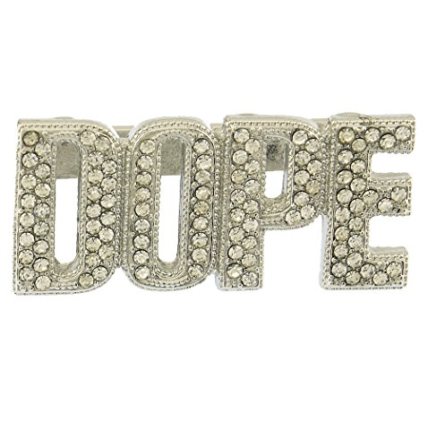 Crystal Pave Dope Word 80'S Hip Hop Knuckle Ring