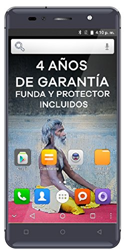 "Intex Aqua Shine - Smartphone libre Android (4G, 5"", Dual SIM, 8 MP, 16 GB), color Gris grafito"