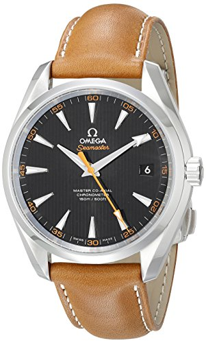 Omega Men's 23112422101002 Seamaster150 Analog Display Swiss Automatic Brown Watch (Omega Skeleton compare prices)