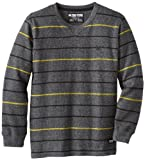 Zoo York Boys 8-20 Emerson Hill Long Sleeve Rib Knit, Black, L(14-16)
