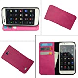 Compare i-KitPit - PU Leather Wallet Flip Case Cover For Micromax Canvas HD A116 (PINK) at Compare Hatke