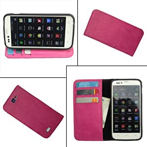 i-KitPit PU Leather Wallet Flip Case For Micromax Bolt A40 (PINK)