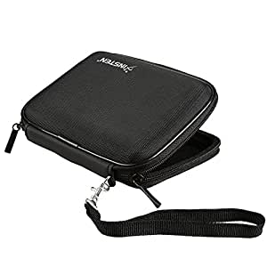 eForCity Black Pouch Case Cover Compatible with Garmin Nuvi 1390T 1450 1490T