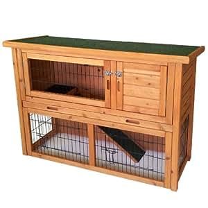 Hasenstall Kaninchenstall Hasenkäfig Kaninchenkäfig 115,5x45x78cm Nagerstall Nagerkäfig Innen & Aussen geeignet