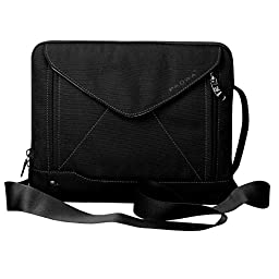 Padwa Lifestyle Shockproof Soft Sleeve Pouch Carrying Envelope Bag Case with Handle Shoulder Strap Zipper for iPad Air2/ iPad Air/ iPad 4/ iPad 3/ iPad 2/ iPad Samsung 10.1 Inch Tablet PC (Black)